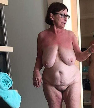 slutty granny in glasses