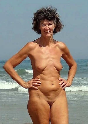 nude pics of granny at the beach