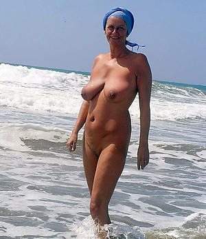 spot on target granny at beach