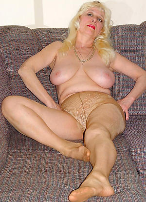 horny old lady in pantyhose