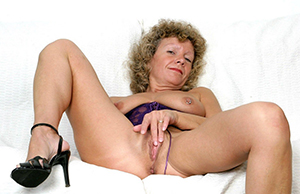 unpredictable intensify granny playing with pussy