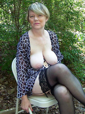 in one's birthday suit pics of granny in stockings