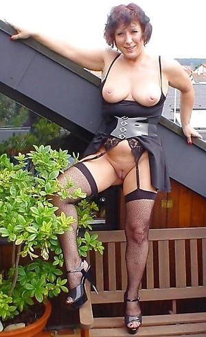 nice granny in stockings