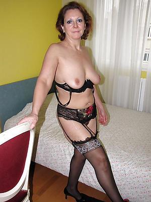 crazy mature granny in stockings