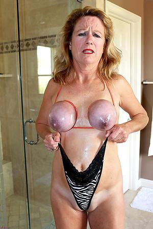 older woman alongside beamy tits free pics