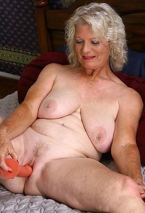 domineer fair-haired granny private pics