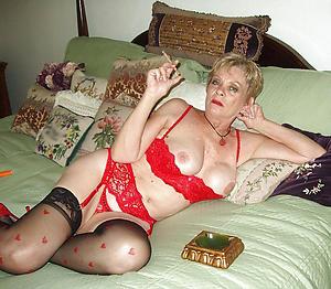 naked granny in lingerie