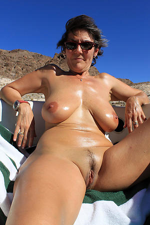 nude pics of granny on the beach