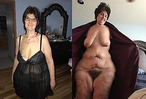 granny dressed undressed mediocre pics