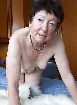brunette granny posing nude