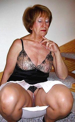 old granny bosom posing nude