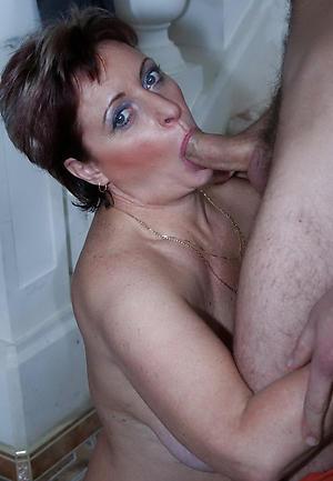 hot granny blowjob posing unclothed