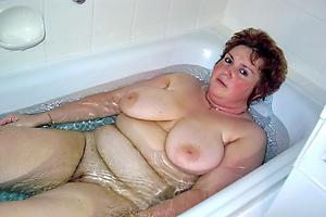 saggy granny boobs posing lay bare