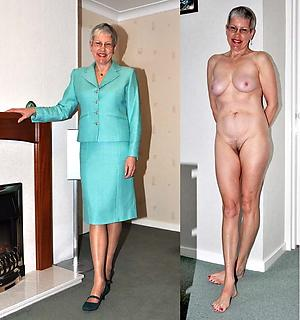 granny dressed added to undressed sex pics