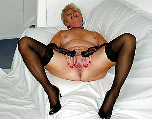 sexy granny in stockings amateur slut