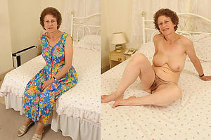 porn pics of granny dressed undressed