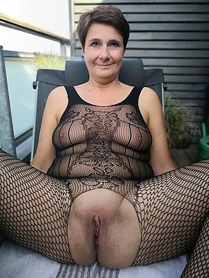granny female parent posing scanty