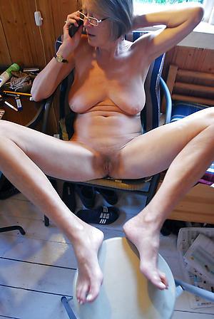 sexy granny feet talisman posing nude