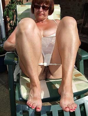 older womens feet adore posing nude