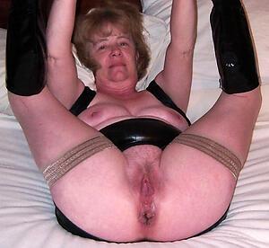 sexy granny vagina posing scant