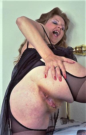 big bore granny posing nude