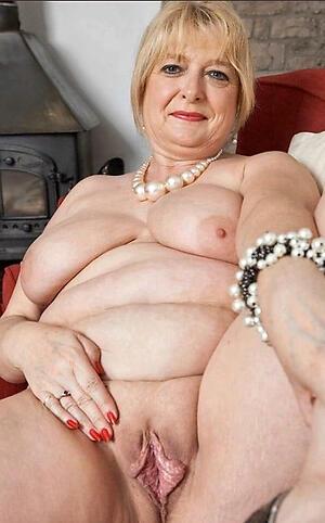 despondent granny twat exalt posing stark naked